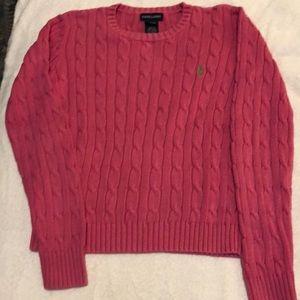 Girls Ralph Lauren cable knit sweater